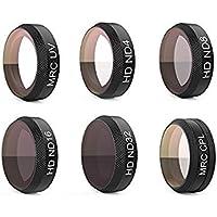 Longteck PGYTECH UV + ND4 + ND8 + ND16 + ND32 + CPL HD Camera Filter Kit Lens Filter for DJI MAVIC AIR (Filters Six Colors)