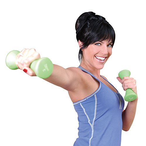 Tone Fitness Pair of Hourglass Shaped Dumbbells, 3-Pound