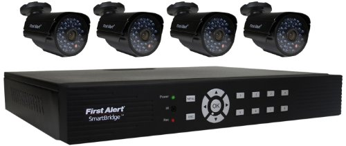 First Alert SmartBridge DCA8405-520SmartBridgeTM 8 Channel Security System with 500GB Hard Drive and 4 Hi-Res Cameras Video Camera with 1-Inch LCD(Black) -  First Alert / BRK Brands, Inc.