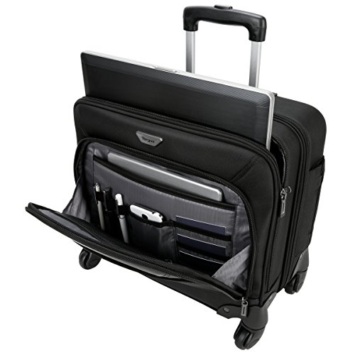 Business Laptop Overnight Case - Targus Mobile ViP 4-Wheeled Business and Overnight Rolling Case for 15.6-Inch Laptops, Black (TBR022)