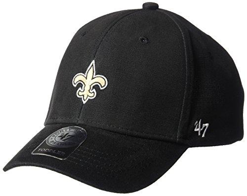NFL New Orleans Saints Basic MVP Adjustable Hat, Youth, Blac