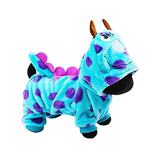 LUCKSTAR Pet Clothes for Winter - Soft & Warm Coral Velvet Puzzle Bobble Dog Costume - Cute Jumpsuit Casual Hoodie Coat Winter Clothing for Dogs & Cats ()
