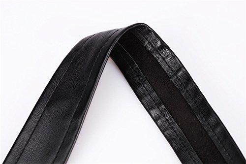 Rosfajiama Mujeres Corsés Cuero la Ropa Interior Atractiva Bustiers Fajas Corpiño Cintura Adelgazamiento Cinturón de Formación negro