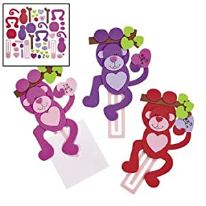 Valentine monkey bookmark craft kit makes 12 for Amazon arts and crafts for kids