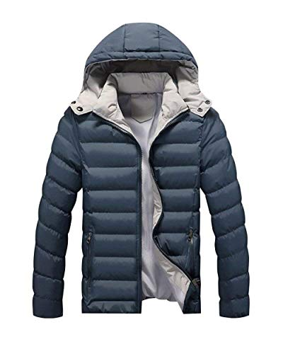 Color Jacket Mixed Coat Long Jacket BoBoLily Hooded Outerwear Coat Down Jacket Down Dunkelgrün Quilted Men's qvYxnnwI