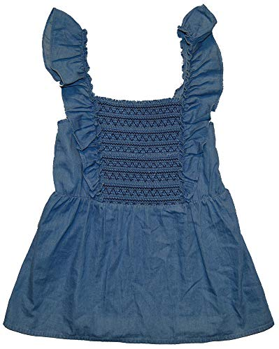 - GAP Womens Blue Chambray Denim Smock Ruffle Top XL