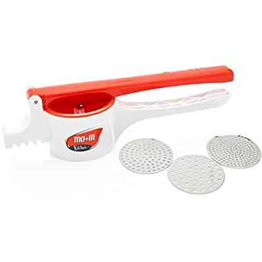 Plastic Potato Ricer, Baby Food Press & Spaetzle Maker [Large] - Quality Kitchen Gadgets by Mo+m Kitchen