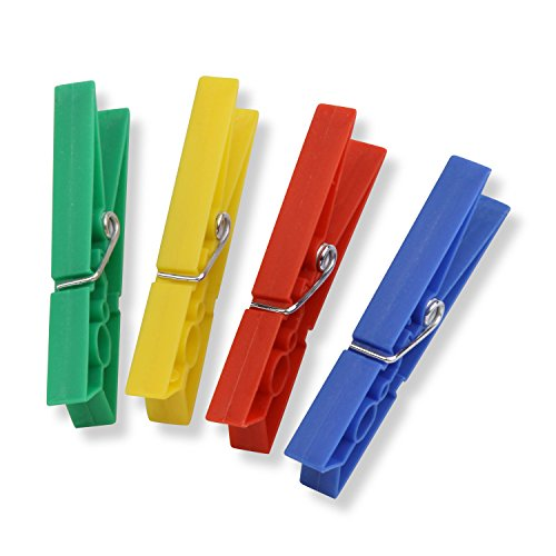 Honey-Can-Do Colored Plastic Clothespins
