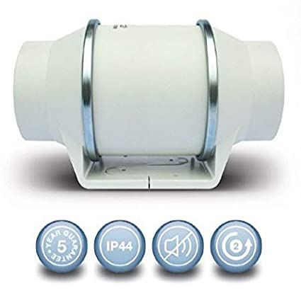 Envirovent SILMV160/100S In-Line 'Silent' Extractor Fan (Standard Model - NO Timer)