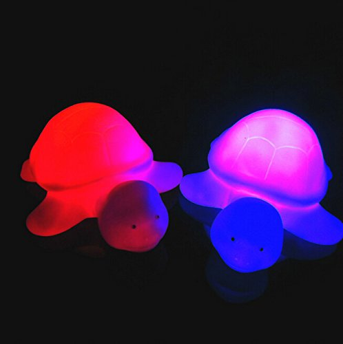 Fashionclubs Christmas Cute Turtle LED Night Light Color Changing Lamp Decor