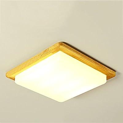 GUO - sobre lámpara de dormitorio lámpara de techo de madera ...