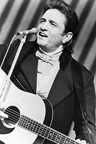 Johnny Cash Classic Singing in Concert with Guitar 1969 24x18 Poster
