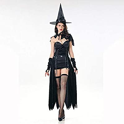 Yunfeng Halloween Bruja Disfraz para Mujer Etapa de Traje de Bruja ...