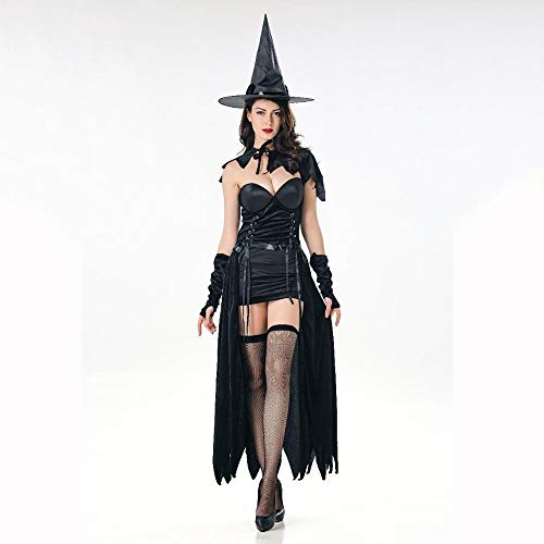 Ambiguity Cosplay Costume Ladies Halloween Sexy Catwoman Witch Witch Costume Masquerade Stage Costume