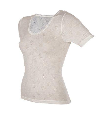 Janus 80% Merino Wool Women's Short Sleeve T-Shirt Made in Norway