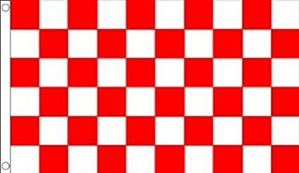 8x5 Feet CHEQUERED RED WHITE 5x3 CHECKERED RACING SPORTS FLAGS Size 3x2
