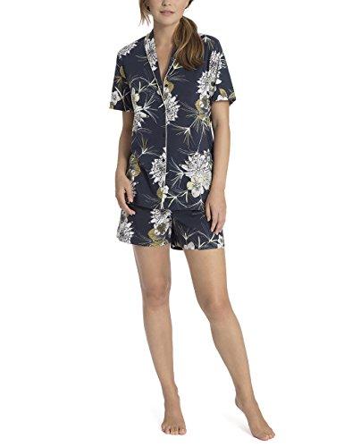 29130b28679102 Calida Damen Zweiteiliger Schlafanzug Dalia Blau (Space Blue 478) Rb0UUQd