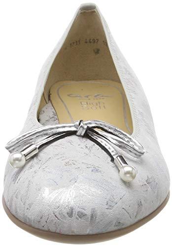 Donna Ballerine Beige Silber 05 multi Ara Sardinia 1231324 qtwTz4