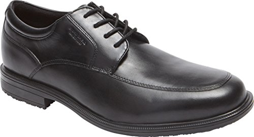 Apron Oxford Leather Black Mens Details II Toe Essential Rockport 8IwYn