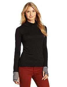 Prana Women's Yvette Turtleneck Shirt, Black, X-Small
