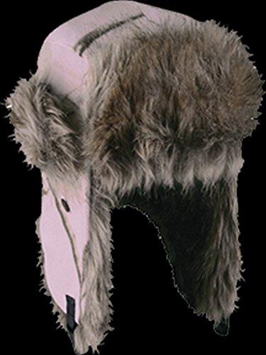 Fleece Trapper with Long Fur Trim Bomber