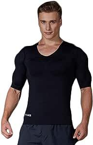 Musclealive MenMuscle la Camiseta de engorde Aumentar los