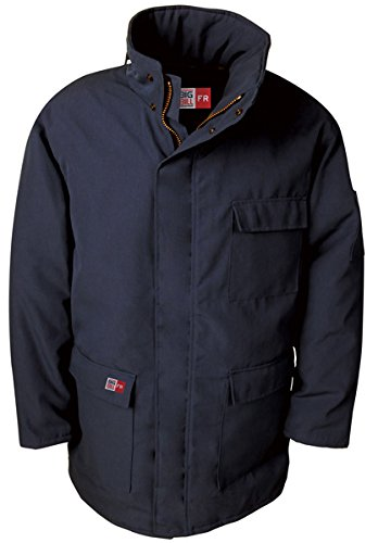 Navy 7 oz Westex Ultrasoft with 12 oz Modaquilt Lining Big Bill M300US7-NAY-L-T FR Insulated Arctic Parka Tall Large