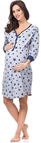 Fashion Scuro da per Melange Notte 0111 Comet Blu Camicie Allattamento IF Italian UPq6dU