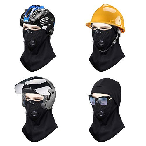 NATUCE Cagoule, Noir RéSistant Au Vent Face De TêTe Protecteur De Capot Chauffe-Cou pour Hiver Chasse en Plein Air… 4