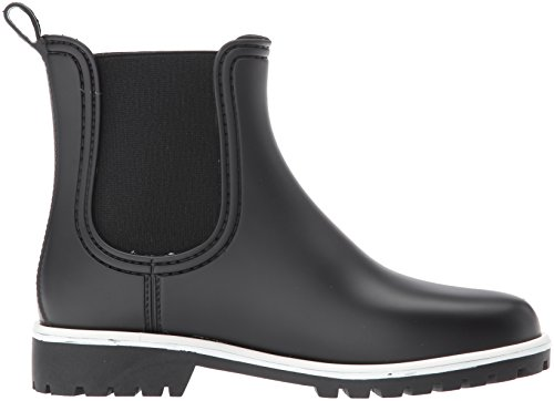 Bernardo Black Women's Boot Zip Rain Rubber rPwIrHBqx
