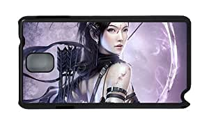 Stylish sell Samsung Note 3 cover Girl with bow and arrow PC Black for Samsung Note 3/Samsung N9000
