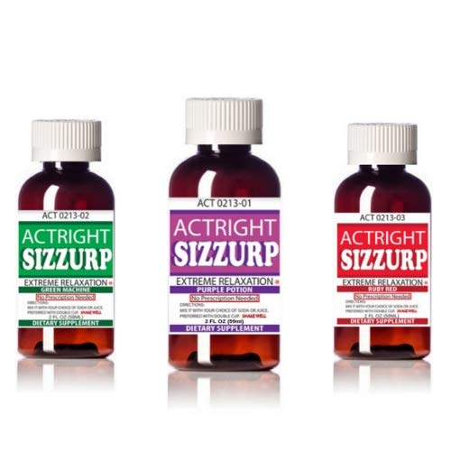 Actright Sizzurp 3 Count 2oz Bundle Relaxation Syrup