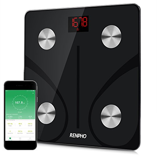 RENPHO Bluetooth Body Fat Scale - FDA Approved - Smart Digital Bathroom Weight Scale, Body Composition Analyzer with Smartphone App, 400 lbs