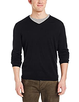 Calvin Klein Men's Slim Fit Silk Cotton V-Neck Sweater