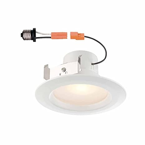 Commercial electric 4 in white recessed led light wtrim 90 cri commercial electric 4 in white recessed led light wtrim 90 cri aloadofball Image collections