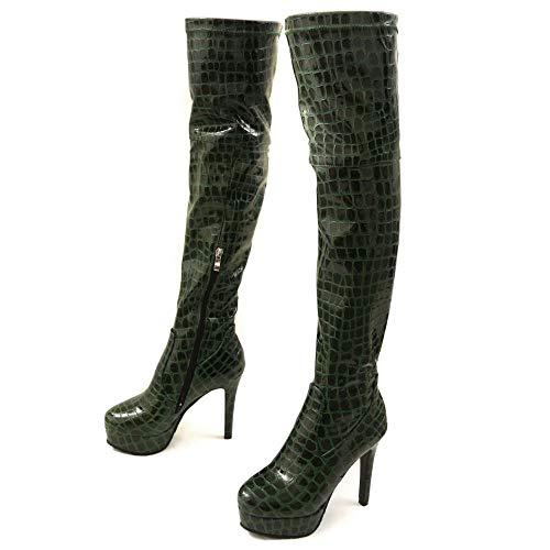 Coolcept alto Stivaletti donna con Green da Fashion tacco qBwnSxgwf