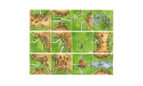 Carcassonne Game Tiles - 12 Count ()