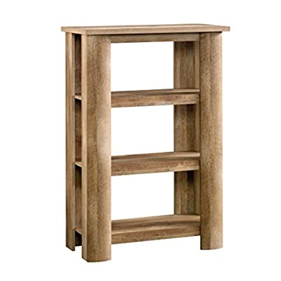 Sauder Boone Mountain Bookcase, Craftsman Oak finish - Three fixed shelves for storage and display of your favorite home décor Finished on all sides for versatile placement anywhere in your home Craftsman Oak finish - living-room-furniture, living-room, bookcases-bookshelves - 41rjaC6QZaL. SS400  -