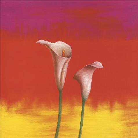 Oil Painting 'Two Callalilies', 24 x 24 inch / 61 x 61 cm , on High Definition HD canvas prints is for Gifts And Bed Room, Home Theater And Powder - Gift Balance Card Michael