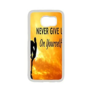 Good Quality Phone Case Designed With Never Give Up For Samsung Galaxy S6