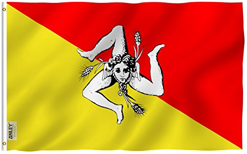Anley Fly Breeze 3x5 Foot Sicily Flag - Vivid Color and UV F