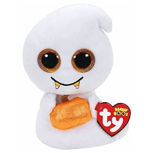 TY Beanie Boo - Scream 15cm Regular Halloween Ghost Plush Toy (free gift with (Scream Ghost)