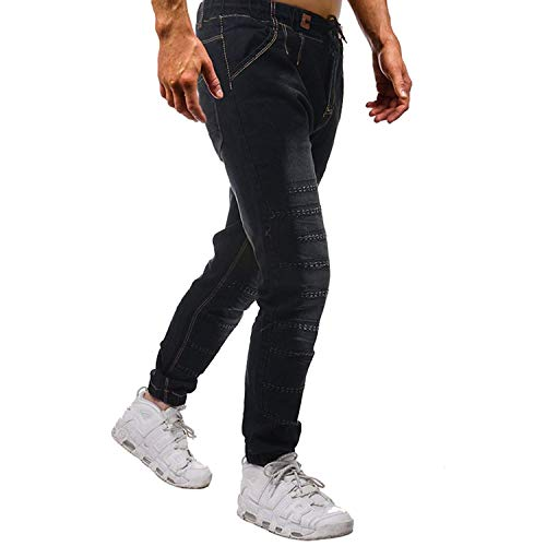 Comode Look Uomo Jeans Long Con Denim Tether Sportivi Used A Taglie Lunghi Pants Pantaloni Elastico Colour Abiti Pieghe Fashion Bermuda Retro Design nYqxBU6qd
