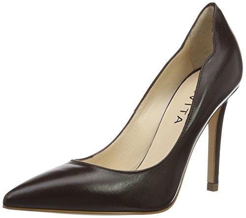 Zapatos 22 Punta Evita Shoes Dunkelbraun con de Alina Mujer Cerrada para Tacón Marrón 6B67wEfYnq