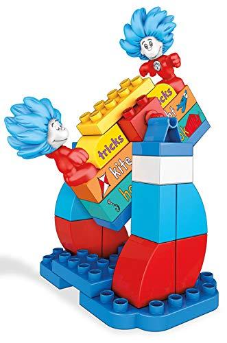 Mega Bloks Dr. Seuss 1 & Thing 2 Tricks Building Set (29 Piece), Multicolor
