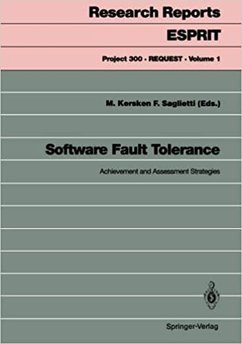 Software Fault Tolerance: Achievement and Assessment Strategies (Research Reports Esprit)