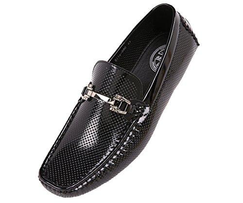 Perforada Mocasín Para Conducir Hombre Patente Mocasines Zapatos De Hombre Conducir c3fd39