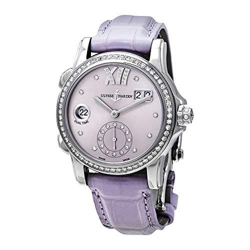 Ulysse Nardin Classic Dual Time Purple Diamond Dial Automatic Ladies Watch 3343-222B/30-07 ()