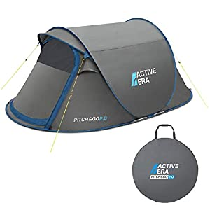 Active Era® V2 Waterproof 2 Person Pop-Up Tent – 100% Storm Tested with Advanced Ventilation and Easy-Pitch Construction…