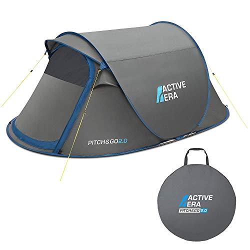 Active Era™ Premium Wurfzelt für 2 Personen – 100% wasserfestes Zelt mit verbesserter Belüftung und praktischer…